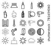 heat icons set of 25 editable