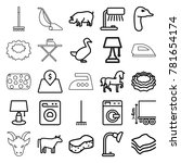 domestic icons set of 25