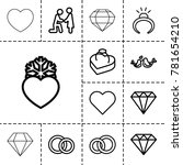 marriage icons. set of 13... | Shutterstock .eps vector #781654210