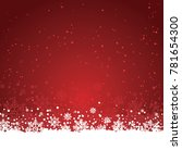 christmas background vector red ... | Shutterstock .eps vector #781654300