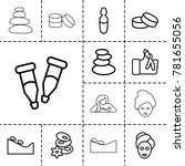 therapy icons. set of 13... | Shutterstock .eps vector #781655056