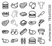 meat icons. set of 25 editable... | Shutterstock .eps vector #781655230