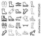 footwear icons. set of 25... | Shutterstock .eps vector #781655260