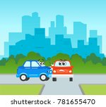 vector flat cartoon car... | Shutterstock .eps vector #781655470