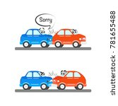 car characters accidents set in ... | Shutterstock .eps vector #781655488