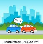 vector flat cartoon car... | Shutterstock .eps vector #781655494