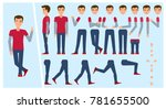 young man  boy  student... | Shutterstock .eps vector #781655500