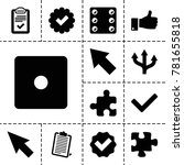 choice icons. set of 13... | Shutterstock .eps vector #781655818
