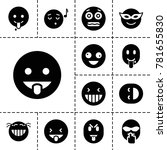 laugh icons. set of 13 editable ...   Shutterstock .eps vector #781655830