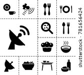 Dish Icons. Set Of 13 Editable...