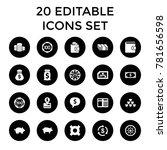 currency icons. set of 20... | Shutterstock .eps vector #781656598