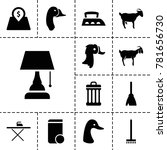 domestic icons set of 13
