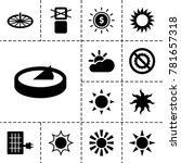 sunlight icons. set of 13...