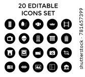 frame icons. set of 20 editable ... | Shutterstock .eps vector #781657399