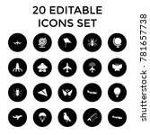 fly icons. set of 20 editable...   Shutterstock .eps vector #781657738