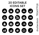 increase icons. set of 20... | Shutterstock .eps vector #781657918
