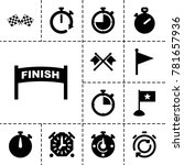 finish icons. set of 13... | Shutterstock .eps vector #781657936