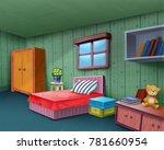 room interior design... | Shutterstock . vector #781660954