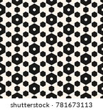 vector hexagon seamless pattern.... | Shutterstock .eps vector #781673113