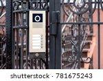 the intercom is installed on... | Shutterstock . vector #781675243
