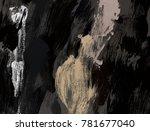oil painting on canvas handmade.... | Shutterstock . vector #781677040