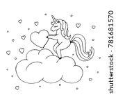 Unicorn Coloring Page. Cute...