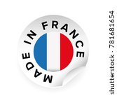 made in france label tag sticker | Shutterstock .eps vector #781681654