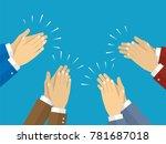 human hands clapping. vector...   Shutterstock .eps vector #781687018