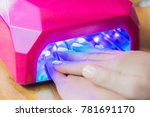 closeup of the hand of a woman... | Shutterstock . vector #781691170