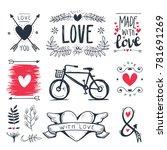 heart decorative vintage...   Shutterstock .eps vector #781691269