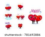love couple set. scenes with... | Shutterstock .eps vector #781692886