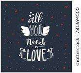hand drawn romantic lettering . ...   Shutterstock .eps vector #781694500