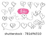 set of hand drawn sketchy... | Shutterstock .eps vector #781696510