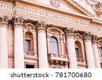 facade of st. peter's basilica...   Shutterstock . vector #781700680