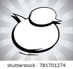 comic black and white speech... | Shutterstock .eps vector #781701274