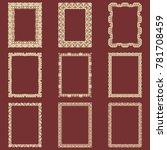 set of rectangular vintage...   Shutterstock .eps vector #781708459