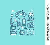 set of icons and symbols for... | Shutterstock .eps vector #781708924
