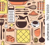 hand drawn illustration cooking ... | Shutterstock .eps vector #781710310