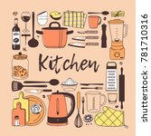 hand drawn illustration cooking ... | Shutterstock .eps vector #781710316