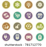 alternative energy icons set... | Shutterstock .eps vector #781712770