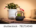succulents in a micro cachepot... | Shutterstock . vector #781714540