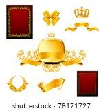 vintage design elements set  ... | Shutterstock . vector #78171727