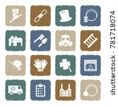 chimney sweeper icons. grunge... | Shutterstock .eps vector #781718074