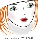 portrait of a beautiful girl... | Shutterstock .eps vector #78172432