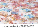 ten euros  twenty euros  fifty... | Shutterstock . vector #781724590
