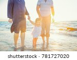 close up happy family of three  ... | Shutterstock . vector #781727020