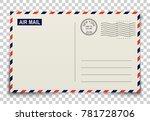 postcard. realistic vector... | Shutterstock .eps vector #781728706