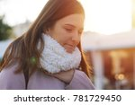 woman feeling cold in winter | Shutterstock . vector #781729450