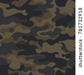 mountain seamless camouflage... | Shutterstock .eps vector #781732918