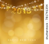 happy new year greeting card... | Shutterstock .eps vector #781741354